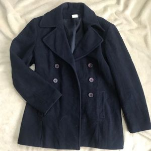 NAF NAF women's navy blue peacoat